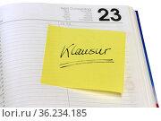 Erinnerung eines wichtigen Termines auf einem Kalender liegend. Стоковое фото, фотограф Zoonar.com/Birgit Reitz-Hofmann / easy Fotostock / Фотобанк Лори