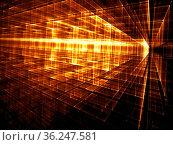 Abstract golden technology or sci-fi background - computer-generated... Стоковое фото, фотограф Zoonar.com/Olga Gavrilenko / easy Fotostock / Фотобанк Лори