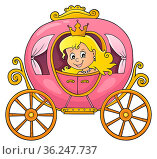 Princess in carriage theme image 1 - picture illustration. Стоковое фото, фотограф Zoonar.com/Klara Viskova / easy Fotostock / Фотобанк Лори