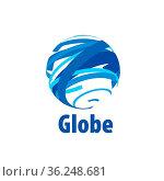 Abstract globe logo. Vector illustration. Design element. Стоковое фото, фотограф Zoonar.com/Aleksey Butenkov / easy Fotostock / Фотобанк Лори