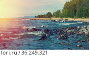Coast of Lake Baikal. Gremyachinsk village. Russia. Стоковое фото, фотограф Zoonar.com/MYCHKO / easy Fotostock / Фотобанк Лори