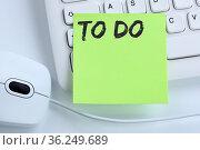 To Do To-Do-Liste Zettel Checkliste Liste Business Konzept Maus Computer... Стоковое фото, фотограф Zoonar.com/Markus Mainka / easy Fotostock / Фотобанк Лори