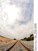 Photo Picture of a Classic Train Rail Road. Стоковое фото, фотограф Zoonar.com/alberto giacomazzi / easy Fotostock / Фотобанк Лори