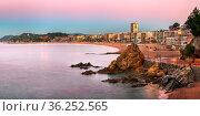 LLORET DE MAR, SPAIN - JUNE 23, 2016: Panorama of Lloret de Mar Seafront... Стоковое фото, фотограф Zoonar.com/Andrey Omelyanchuk / age Fotostock / Фотобанк Лори