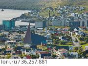 TORSHAWN, FAROE ISLANDS, DENMARK - AUGUST 21, 2018: Overview of the... Стоковое фото, фотограф Zoonar.com/Jiri Vondrous / age Fotostock / Фотобанк Лори