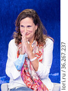 The virologist Ilaria Capua during the tv show 'In Onda' ,Rome, ITALY... Редакционное фото, фотограф Cristiano Minichiello / AGF/Cristiano Minichiello / age Fotostock / Фотобанк Лори