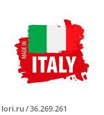 Italy flag, vector illustration on a white background. Стоковое фото, фотограф Zoonar.com/Aleksey Butenkov / easy Fotostock / Фотобанк Лори