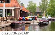 Boats for rent in the tourstic little village Blokzijl in teh Netherlands... Стоковое фото, фотограф Zoonar.com/Hilda Weges / easy Fotostock / Фотобанк Лори