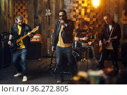 Brutal artists, music performing on stage. Стоковое фото, фотограф Tryapitsyn Sergiy / Фотобанк Лори