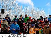 Zuschauertribüne beim FIS Weltcup Snowboard SBX Feldberg - Samstag. Стоковое фото, фотограф Zoonar.com/Joachim Hahne / age Fotostock / Фотобанк Лори