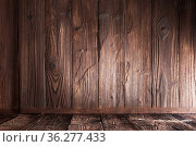 Dark wood panels corner background with copy space for text. Стоковое фото, фотограф Zoonar.com/Ivan Mikhaylov / easy Fotostock / Фотобанк Лори