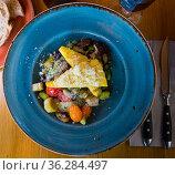 Mushrooms with baked vegetables under cheese. Стоковое фото, фотограф Яков Филимонов / Фотобанк Лори