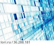 Technology or sci-fi white and blue backdrop - diagonal wall consist... Стоковое фото, фотограф Zoonar.com/Olga Gavrilenko / easy Fotostock / Фотобанк Лори