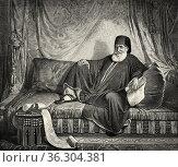 Portrait of Mehemet Ali or Muhammad Ali Pasha al-Mas'ud ibn Agha (... Редакционное фото, фотограф Jerónimo Alba / age Fotostock / Фотобанк Лори