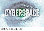Cyberspace auge blickt auf betrachter konzept. Стоковое фото, фотограф Zoonar.com/WSF / easy Fotostock / Фотобанк Лори