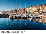 MARSEILLE, FRANCE - January 11: Boats on January 11, 2012 in the ... Стоковое фото, фотограф Zoonar.com/Andrey Omelyanchuk / age Fotostock / Фотобанк Лори