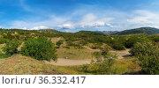 Beautiful clouds over the mountains. Crimea. Choban-Kule. Стоковое фото, фотограф Алексей Маринченко / Фотобанк Лори
