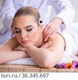 Woman during massage session in spa. Стоковое фото, фотограф Elnur / Фотобанк Лори