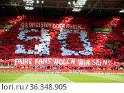 Ob Dreisam oder Rhein, faire Fans wollen wir sein, Choreographie ... Стоковое фото, фотограф Zoonar.com/Joachim Hahne / age Fotostock / Фотобанк Лори