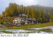 Hotel Hof Zuort, Ramosch, Engadin, Graubünden, Schweiz / Hotel Hof... Стоковое фото, фотограф Zoonar.com/Pant / age Fotostock / Фотобанк Лори