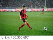 Lukas Kuebler (Freiburg) mit Ball, 1. BL: 16-17 - 20. Spieltag - ... Стоковое фото, фотограф Zoonar.com/johapress / age Fotostock / Фотобанк Лори
