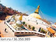 Kathmandu, Nepal - October 23, 2013: Tilted aerial view of surrounding... Стоковое фото, фотограф Zoonar.com/Pius Lee / age Fotostock / Фотобанк Лори