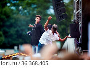 Lukas Rieger auf dem Antenne Thüringen Konzert in Erfurt. Стоковое фото, фотограф Zoonar.com/Markus Kaemmerer / age Fotostock / Фотобанк Лори