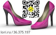 Женские туфли на высоком каблуке c Честным Знаком. Стоковая иллюстрация, иллюстратор WalDeMarus / Фотобанк Лори