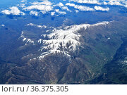 Top view of the mountain peaks in the snow. Стоковое фото, фотограф Володина Ольга / Фотобанк Лори