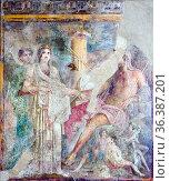 Hierogamia Divine wedding between Hera and Zeus, at the presence ... Стоковое фото, фотограф Stefano Ravera / age Fotostock / Фотобанк Лори