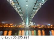 Under Patriarchal bridge over river Moscow, Russia. Стоковое фото, фотограф Zoonar.com/Yuri Dmitrienko / easy Fotostock / Фотобанк Лори