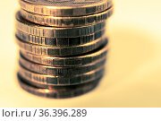 Stack of coins macro. Rows of coins for finance and banking concept... Стоковое фото, фотограф Zoonar.com/BASHTA / easy Fotostock / Фотобанк Лори