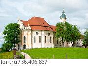Pilgrimage Church of Wies, Bavaria, Germany. UNESCO World Heritage... Стоковое фото, фотограф Zoonar.com/Yuri Dmitrienko / easy Fotostock / Фотобанк Лори