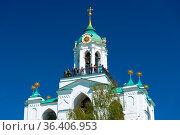 The belfry tower of the Spaso-Preobrazhensky Monastery. Yaroslavl... Стоковое фото, фотограф Zoonar.com/Yuri Dmitrienko / easy Fotostock / Фотобанк Лори