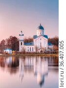 Alexander Nevsky Orthodox Christian Church With Bell Tower And Chapel... Стоковое фото, фотограф Ryhor Bruyeu / easy Fotostock / Фотобанк Лори