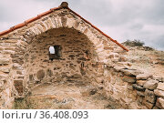 Sagarejo Municipality, Kakheti region, Georgia. Church of the Resurrection... Стоковое фото, фотограф Ryhor Bruyeu / easy Fotostock / Фотобанк Лори