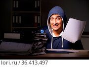 Thief trying to steal personal data in identity theft concept. Стоковое фото, фотограф Zoonar.com/Elnur Amikishiyev / easy Fotostock / Фотобанк Лори