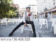 PORTRAIT SESSION MARIO VAQUERIZO IN PROCLAMATION OF SAN CAYETANO ... Редакционное фото, фотограф Rafael De La Camara / age Fotostock / Фотобанк Лори