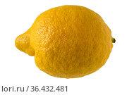 Zitrone, isoliert. Lemon fruit, isolated. Стоковое фото, фотограф Zoonar.com/Dr. Baumgärtner, 2018 / easy Fotostock / Фотобанк Лори