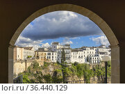 View from the National Parador hotel to buildings of La Ciudad, the... Стоковое фото, фотограф Ken Welsh / age Fotostock / Фотобанк Лори