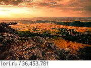 Mountain Peak Skywalk at the Hohe Wand in lower austria during sunrise... Стоковое фото, фотограф Zoonar.com/Maximilian Pawlikowsky / easy Fotostock / Фотобанк Лори