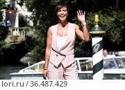 Roberta Giarrusso at the 78th Venice Film festival, Venice, ITALY... Редакционное фото, фотограф Maria Laura Antonelli / AGF/Maria Laura Antonelli / age Fotostock / Фотобанк Лори