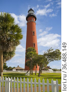 Ponce de Leon Inlet Light Station tallest 175 feet in Florida completed... Стоковое фото, фотограф James Schwabel / age Fotostock / Фотобанк Лори