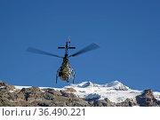Hubschrauberflug in den Walliser Alpen. Стоковое фото, фотограф Zoonar.com/Hans Eder / easy Fotostock / Фотобанк Лори
