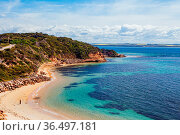 Point Nepean and Port Phillip Bay on a hot summer's day in Victoria... Стоковое фото, фотограф Zoonar.com/Chris Putnam / easy Fotostock / Фотобанк Лори