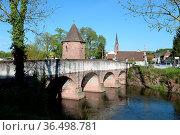 Wasserturm, Eichstetten, dreisam, dreisambrücke, historisch, bach... Стоковое фото, фотограф Zoonar.com/Volker Rauch / easy Fotostock / Фотобанк Лори