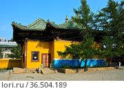 Bibliothek im Gandan Komplex, Gandan-Kloster, Ulan-Bator, Mongolei... Стоковое фото, фотограф Zoonar.com/Pant / age Fotostock / Фотобанк Лори