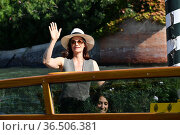Ruth Wilson arrives in Darsena. 78th Venice International Film Festival... Редакционное фото, фотограф Antonelli / AGF/Maria Laura Antonelli / age Fotostock / Фотобанк Лори