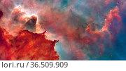 Star Birth in the Carina Nebula or Grand Nebula. Large bright nebula... Стоковое фото, фотограф Zoonar.com/Yury Dmitrienko / easy Fotostock / Фотобанк Лори