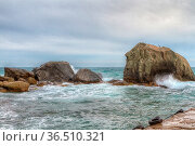Black sea coastline before storm. Alupka, Crimea, Russia. Стоковое фото, фотограф Zoonar.com/Volodymyr Khodariev / easy Fotostock / Фотобанк Лори